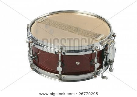 stock  image of the snare drum isolated on white