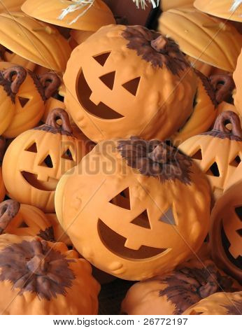 Funny Halloween clayware decorations