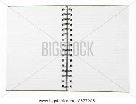 clean Notebook isolated