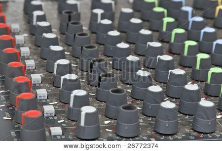 DJ mixer close-up