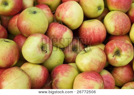 """Background made of """"Jonagold"""" apples"""