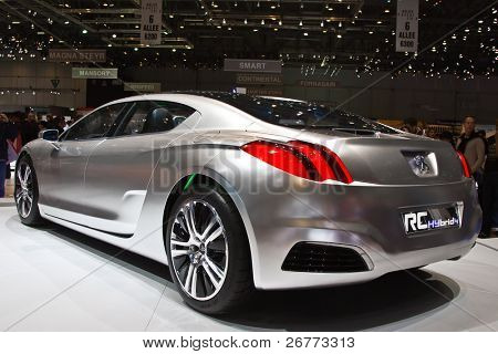 GENEVA - MARCH 7:  Peugeot Hybrid RC4 on display at the 79th International Motor Show Palexpo-Geneva on March 7, 2009.