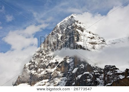 Eiger north face (Bernesse alps, Switzerland)