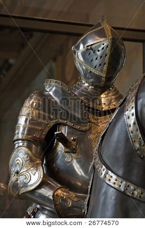 French King's armor in historical museum
