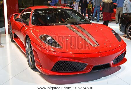 GENEVA - MARCH 7: Ferrari 599XX on display at the 79th International Motor Show Palexpo-Geneva on March 7, 2009 in Geneva.