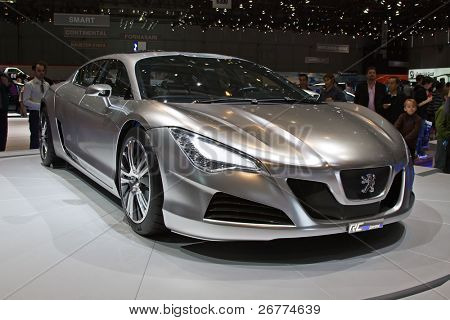 GENEVA - MARCH 7: Peugeot Hybrid RC4 on display at the 79th International Motor Show Palexpo-Geneva  on March 7, 2009 in Geneva.