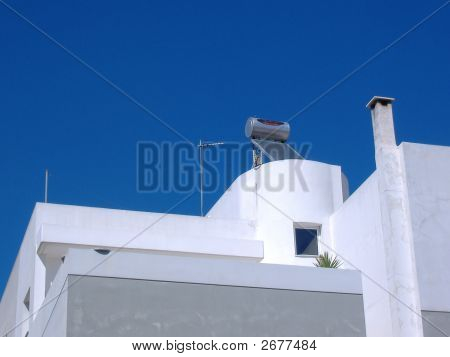 Conceptual Shot Of A Greek House In Athens,Summertime