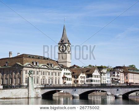 Blick auf die Zürich Donwtown (Switzerland, 2009)