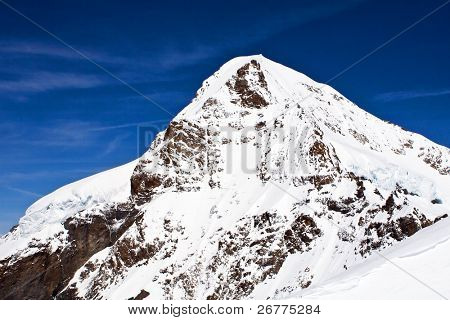 Eiger peak in the Jungfrau region (Switzerland)