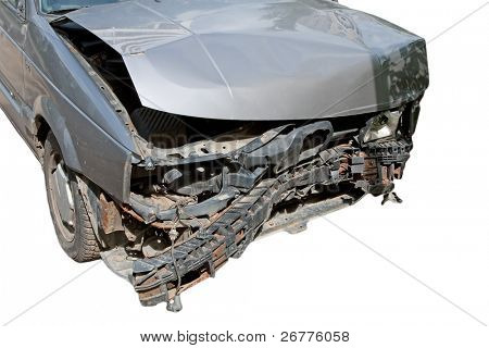 Car destroyed in result of accident