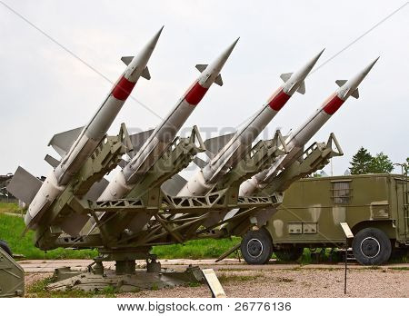 Four russian anti aircraft missiles
