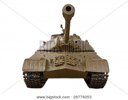 Russian heavy tank IS-3 isolated on white