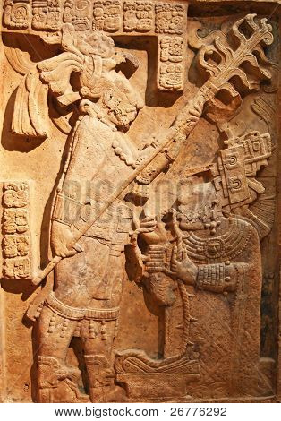 Man and slave relief (pre-columbian mexican art)