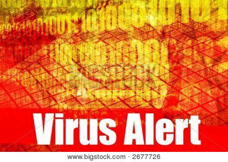 Mensagem de aviso alerta de vírus