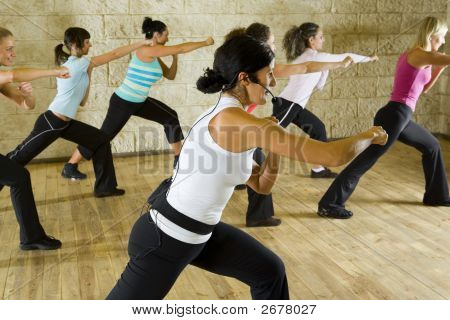 Group Of Exercising Women