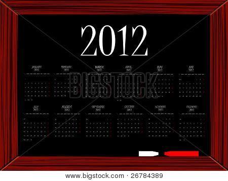2012 Calendar On Board