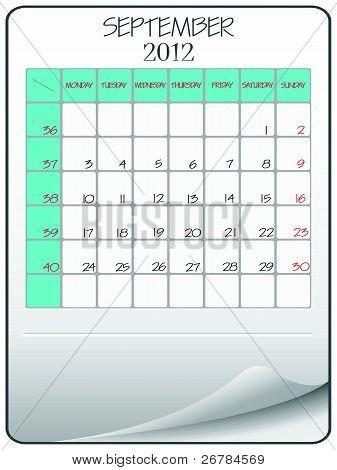 Septiembre de 2012 en papel