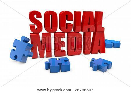Social Media With Jigsaw Puzzle Pieces