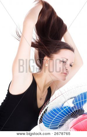 The Girl And Fan