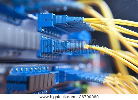 Glasfaser-Netzwerk-server