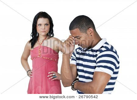 Unhappy Couple With Focus On Man
