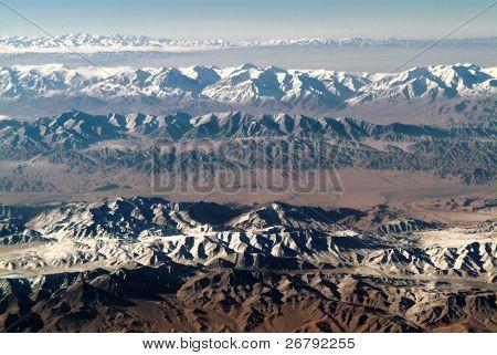 Luftaufnahme der West-China Qinghai Geologie Park
