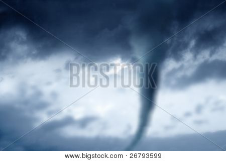 twister in stormy sky