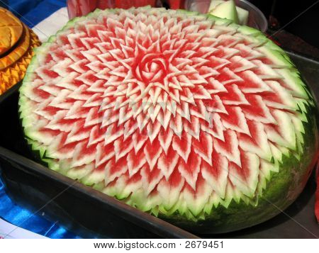 Thai Carved Melon