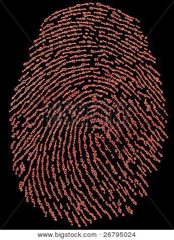 close up shot of fingerprint on black