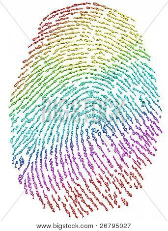 close up shot of fingerprint on white