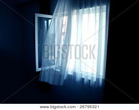 close up shot of an open window
