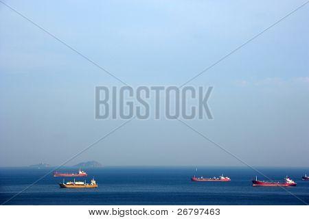 close up shot of a cargo ships