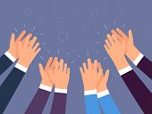 Applause. People Hands Clapping. Cheering Hands, Ovation And Business Success Vector Concept. Illust poster
