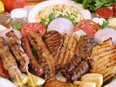 stock photo of greek food  - Greek food - JPG