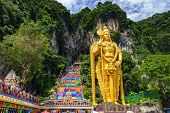 Very Beautiful Batu Cave In Malaysia, A Temple Of Hinduism In South Asia. poster