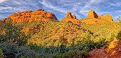 Mitten Ridge Panorama. A Composite Panorama Of Mitten Ridge In Sedona Arizona. This View Is From The poster