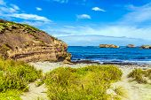 The Great Ocean Road of Australia. The Pacific ocean. Small picturesque bay with azure ocean water.  poster
