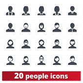 People, Business And Office Persons Vector Icons. Male And Female Portraits, User Avatar, Person Pic poster