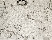 foto of sicily  - Old maritime map of North Africa coast and South Mediterranean - JPG