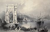 stock photo of luigi  - Antique illustration of Arco di Traiano in Ancona - JPG