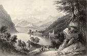 foto of luigi  - Antique illustration of Lake Lugano - JPG