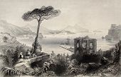 foto of luigi  - Antique illustration of  Naples bay - JPG