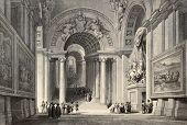pic of luigi  - Antique illustration of Scala Regia  - JPG