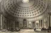 image of luigi  - Antique illustration of  Pantheon in Rome - JPG