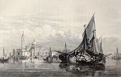 stock photo of luigi  - Antique illustration of  San Giorgio Maggiore island - JPG