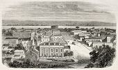 Old view of Omaha, Nebraska, USA. Created by Lancelot and Cosson-Smeeton, published on L'Illustratio
