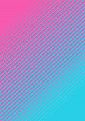 A Pink And Blue Fading Line Pattern Background poster