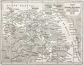 stock photo of bonaparte  - Old map of Arctic region of Sir John Franklin Northwest Passage exploration - JPG