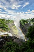 Постер, плакат: Amazing Victoria Falls View From Zimbabwe africa