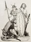 image of gaul  - Gaul warriors old illustration - JPG